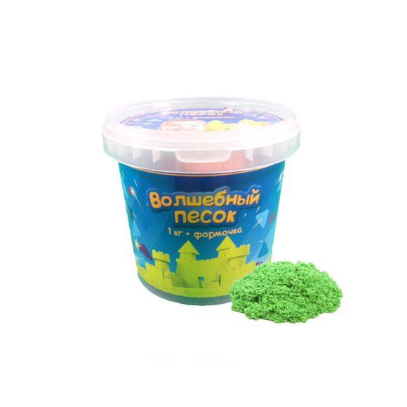 Купить КОСМИЧЕСКИЙ ПЕСОК Набор Волшебный песок Зеленый 1кг и формочка [VP13], зеленый, Кинетический песок