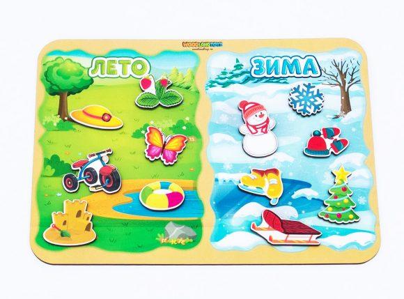 Купить WOODLAND Сортер Какая разница? Лето-зима [117201], Разноцветный, Дерево, Сортеры для малышей