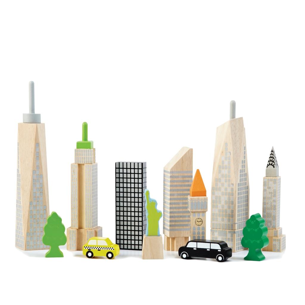 Купить Конструктор WONDERWORLD WW-2517 Городские небоскрёбы, Каучуковое дерево, Для мальчиков и девочек, Тайланд, Кубики для малышей