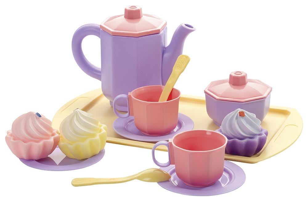 Купить Чайный набор с кексами Огонек Принцесса (С-1477), Многоцветный, Пластик, Россия, Игрушечная еда и посуда