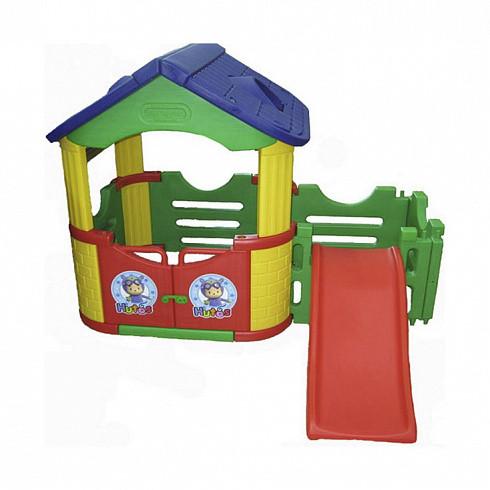 Купить HAPPY BOX Двойной игровой домик с горкой [JM-802С], пластик, Металл, Игровые и спортивные комплексы и горки