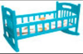 Купить МУСИ-ПУСИ Кроватка для кукол с постелью Муси-Пуси , голубая [IT104889], Муси-пуси, голубой, пластик, Мебель для кукол