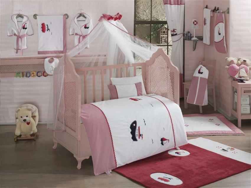 Купить KIDBOO Комплект постельного белья Little Voyager (3 предмета) [00-0012146], белый, Хлопок, Для мальчиков и девочек, Постельное белье для малышей