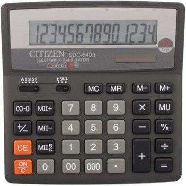 Калькулятор бухгалтерский Citizen SDC-640II