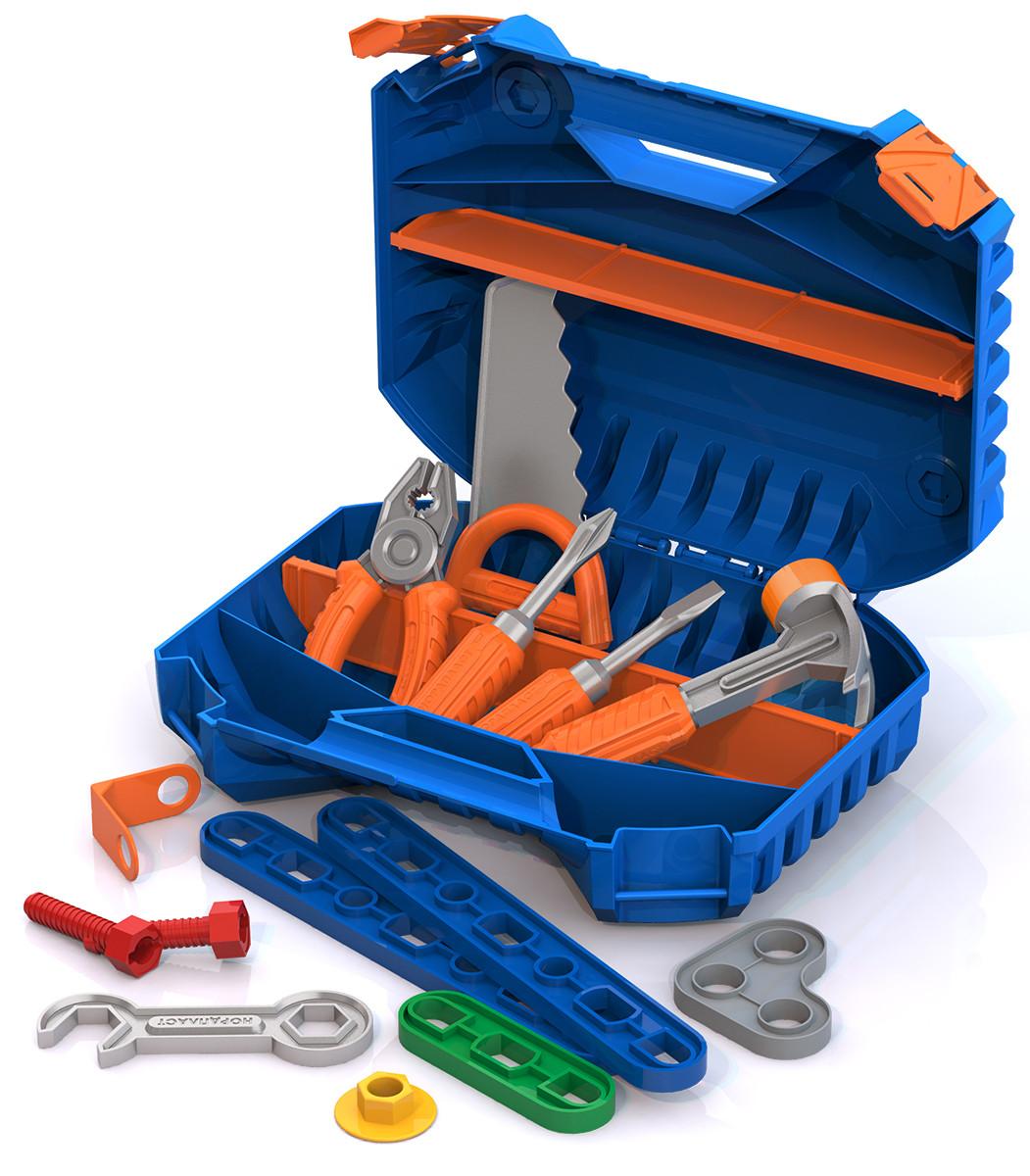 Купить НОРДПЛАСТ Набор инструментов с конструктором [545H], 300 x 220 x 90 мм, пластик, Детские наборы инструментов