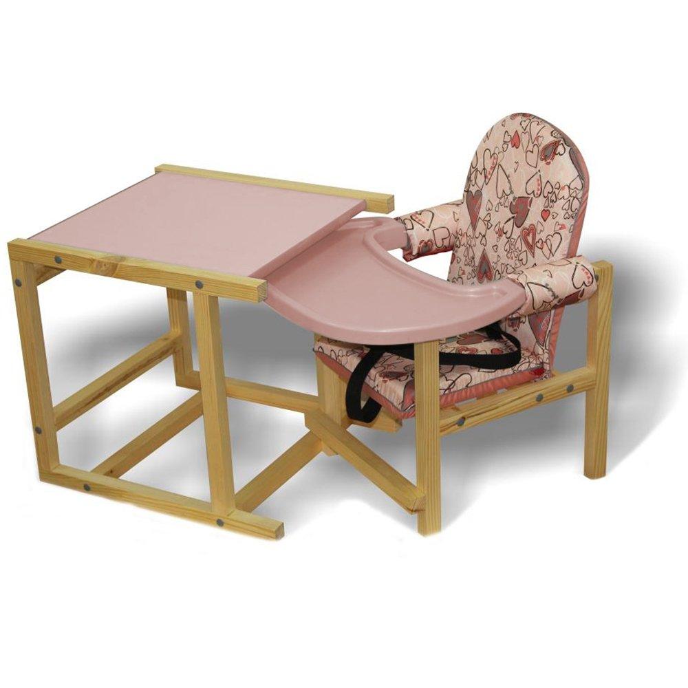 Купить СЕНС- М Стул-стол для кормления СТД 07 пластиковая столешница Розовый [СТД0706], Россия, Стульчики для кормления малышей