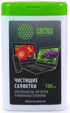 Салфетки чистящие для планшетов, ноутбуков и моб.телефонов Cactus CS-T1005, Китай  - купить со скидкой