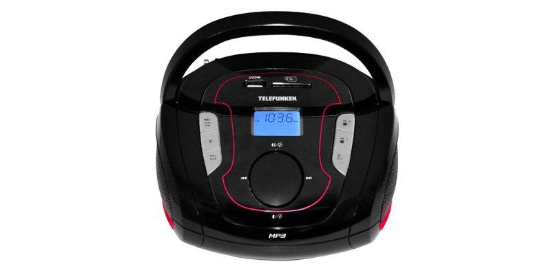Аудиомагнитола TELEFUNKEN TF-SRP3471B Black-red, Черный, Китай  - купить со скидкой