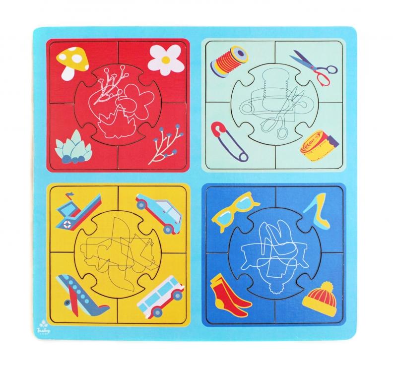 Купить Развивающая игрушка: пазл большой Найди силуэт [IG0088], Обучающие материалы и авторские методики для детей