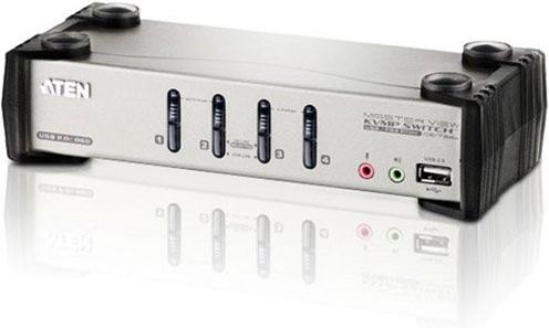 КВМ-переключатель Aten USB2.0 CS1734B-A7-G  - купить со скидкой
