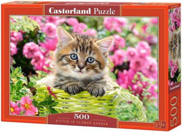 Купить CASTORLAND Пазл Котенок в саду , 500 элементов [В-52974 ], Пазлы