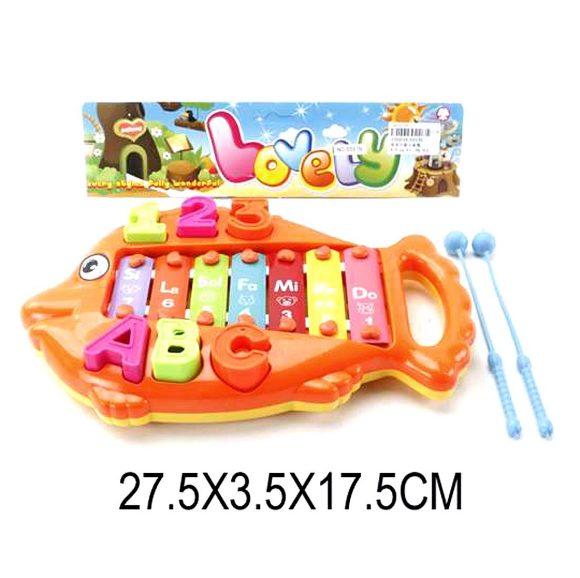 Купить НАША ИГРУШКА Ксилофон рыбка 7 тонов, 2 пал. [6557B], Shantou, Пластик, металл, Детские музыкальные инструменты