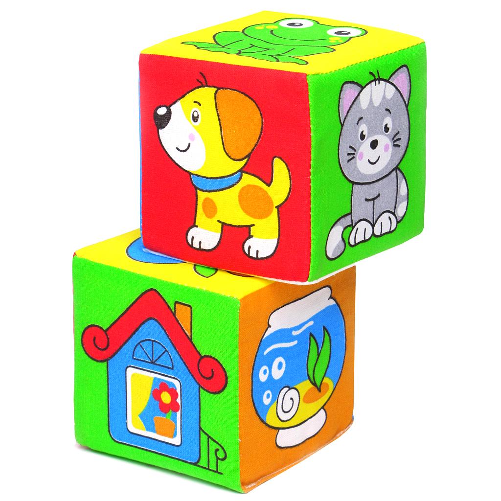 Купить Кубики МЯКИШИ 111 Чей домик, Мякиши, 100% х/б ткань, поролон, Для мальчиков и девочек, Россия, Кубики для малышей