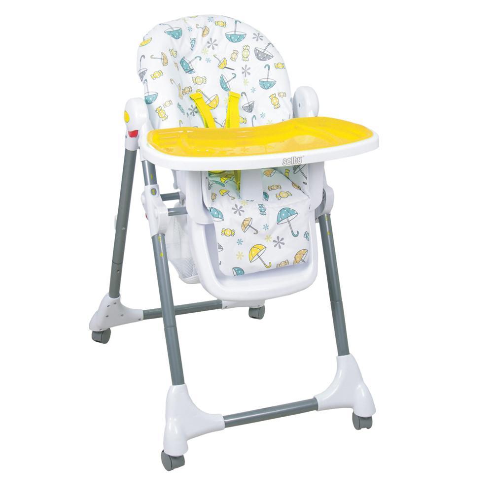Купить 12356248, SELBY Стульчик для кормления Bh-431 желтый, [827379], Стульчики для кормления малышей