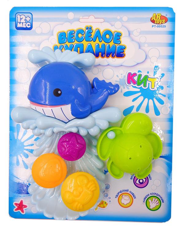 Купить ABTOYS Набор для ванны Веселое купание (кит-мельница, черепашка) [PT-00529], пластмасса, Детские игрушки для ванной