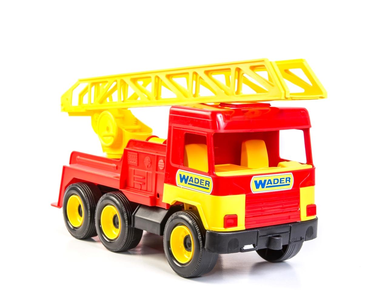 Купить Машина пластиковая WADER 39225 Middle truck пожарная, Полипролипен, Для мальчиков, Украина, Игрушечные машинки и техника
