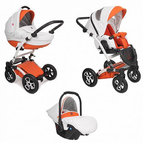 Купить TUTEK Детская коляска Torero , 3 в 1, цвет: ECO2/оранжевый с белым [УТ-0001603ECO2], пластик, Металл, Текстиль, Детские коляски