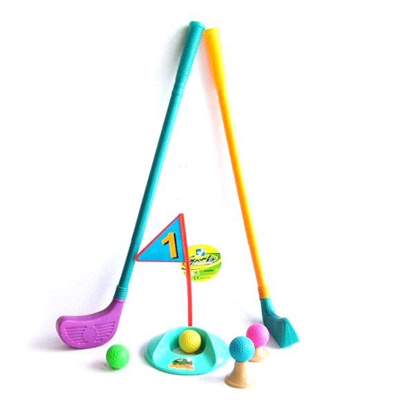 Купить НАША ИГРУШКА Набор для игры в гольф, клюшка 56 см, 10 предм., сетка [Y6164140], пластик, Спортивные игры и игрушки для улицы