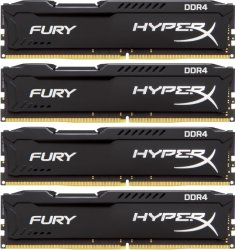Оперативная память 16Gb DDR4 2400MHz Kingston HyperX Fury (HX424C15FBK4/16) (4x4Gb KIT)