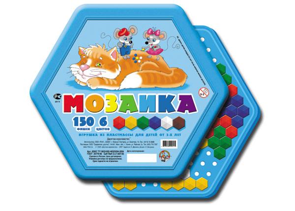 Купить ДЕСЯТОЕ КОРОЛЕВСТВО Мозаика (шестигранные фишки), 150 деталей [957], Россия, Мозаика для детей
