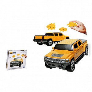 Купить HAPPY WELL 1:43 Hummer H3T 3D Puzzle Non Assemble [57126], пластик, Пазлы