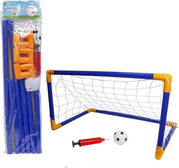 Купить 1TOY Футбольные ворота 107х78х71см, мяч, насос [Т59935], 1 toy, Спортивные игры и игрушки для улицы