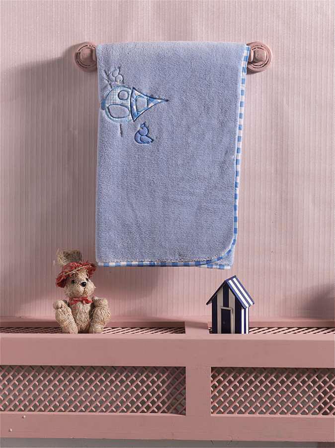 Купить KIDBOO Плед Lovely Birds (цвет: голубой, велсофт) [00-0011996], Голубой, Для мальчиков, Покрывала, подушки, одеяла для малышей