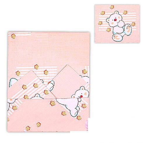 Купить ОСЬМИНОЖКА Комплект постельного белья, 3 предмета (цвет: бежевый) [41К], Бежевый, Хлопок, Россия, Постельное белье для малышей