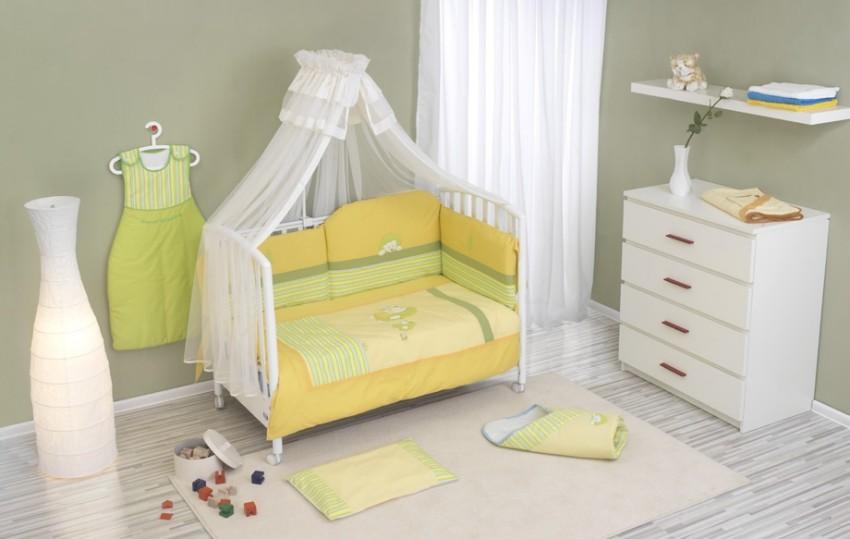 Купить NINO Комплект в кроватку Erizo (цвет: blue, 6 предметов) [00-0013807], голубой, 100% полиэстер/ 100% хлопок, Для мальчиков, Постельное белье для малышей
