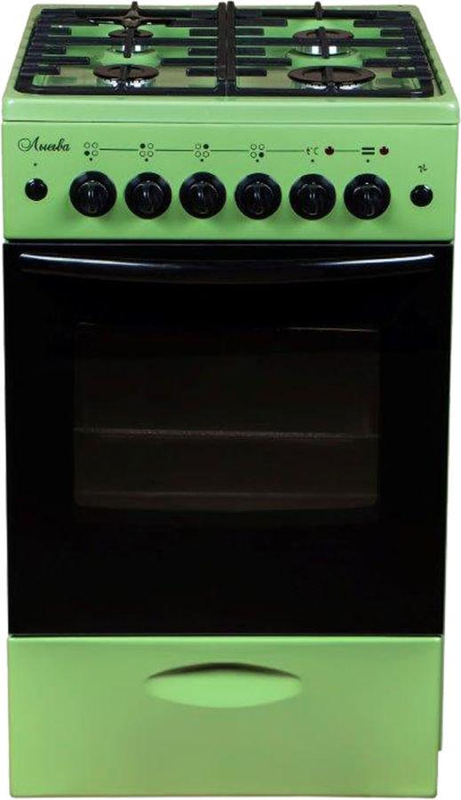 Плита комбинированная Лысьва ЭГ 401 МС-2у зеленая (без крышки, реш.чугун) фото