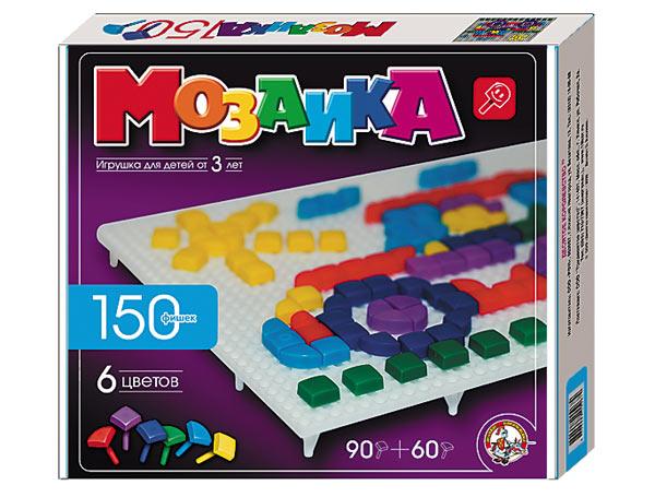 Купить ДЕСЯТОЕ КОРОЛЕВСТВО Мозаика фигурная, 150 элементов [966], Мозаика для детей