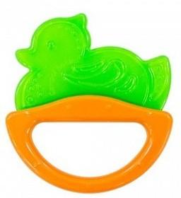 Купить CANPOL Погремушка с эластичным прорезывателем Уточка , цвет: зеленый [250930513], Зеленый, Этиленвинилацетат, ABC-пластик, Погремушки и прорезыватели