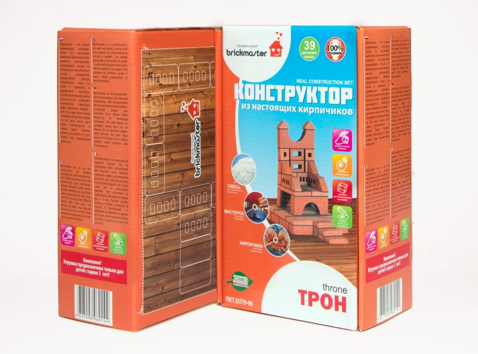 Купить Конструктор BRICKMASTER 602 Трон (39 деталей), глина, Для мальчиков и девочек, Россия, Конструкторы
