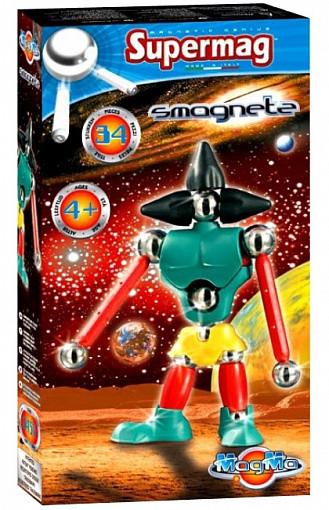 Купить PLASTWOOD Магнитный конструктор Supermag Magma , цвет: Smagnetz [0459], пластик, Металл, Конструкторы