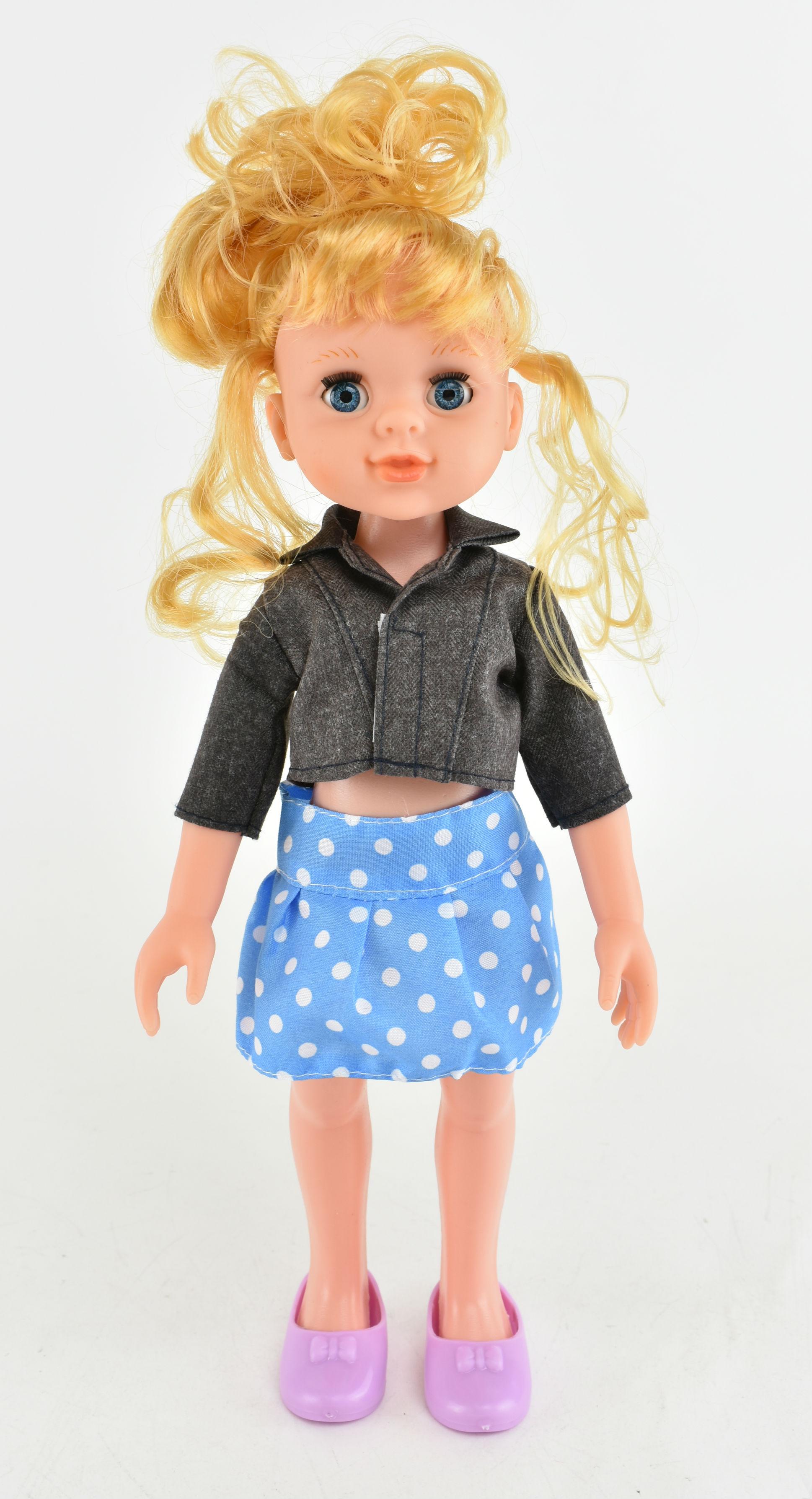 Купить РЫЖИЙ КОТ Кукла Радочка , 31 см [601-2], Рыжий кот, Черный, голубой, пластик, Текстиль, Китай, Куклы и пупсы