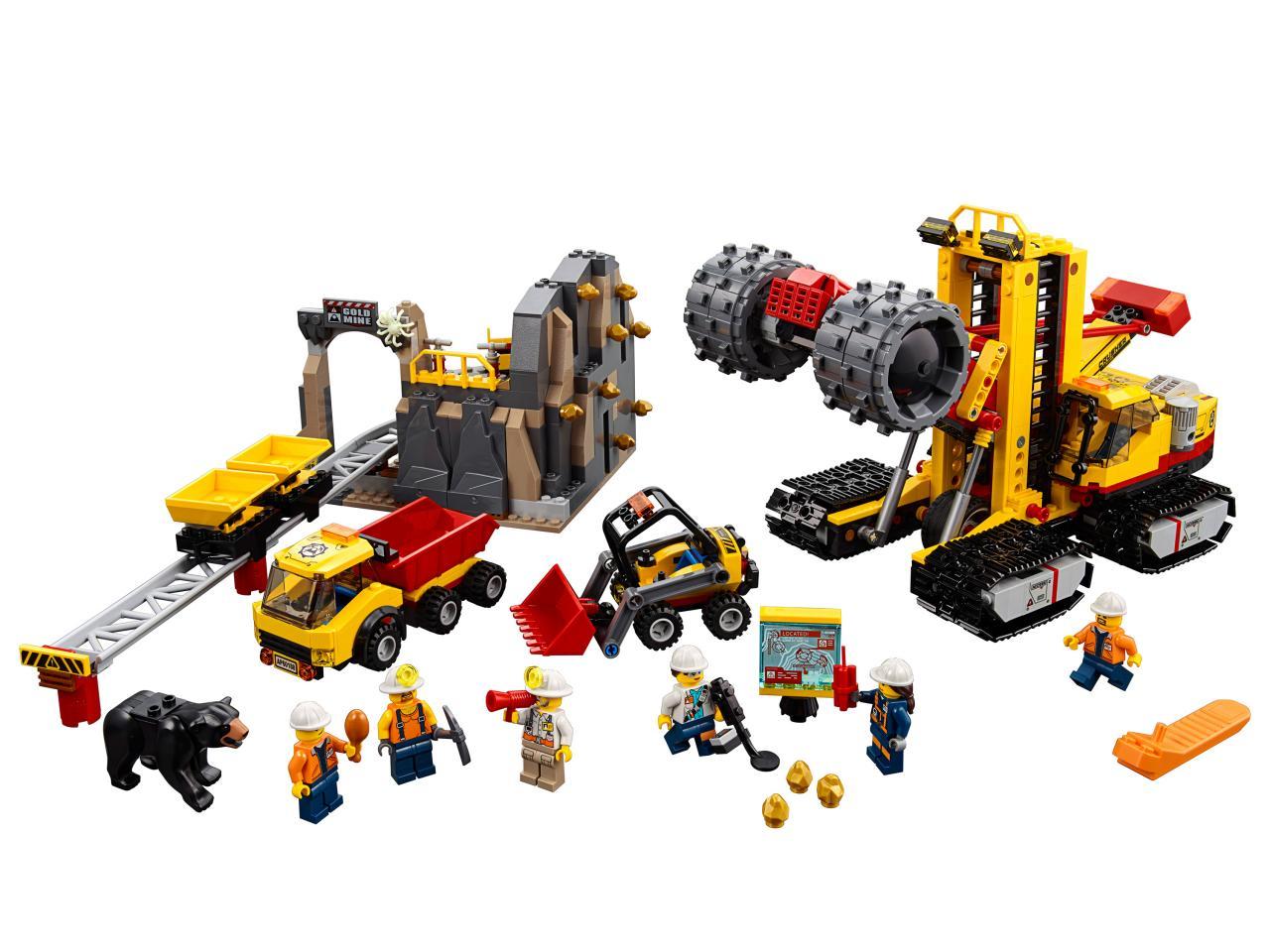 Купить Конструктор LEGO 60188 City Mining Шахта, пластик, Для мальчиков и девочек, Чехия, Конструкторы