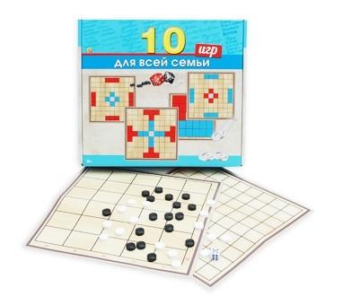 Купить Игра настольная. 10 игр в 1. Игры для всей семьи [ИН-8515], Рыжий кот, 330x290x55 мм, Настольные игры