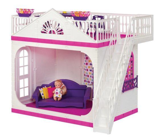 Купить ОГОНЕК Домик Кукольный Зефир [С-1404], Огонек, пластик, Для девочек, Россия, Кукольные домики