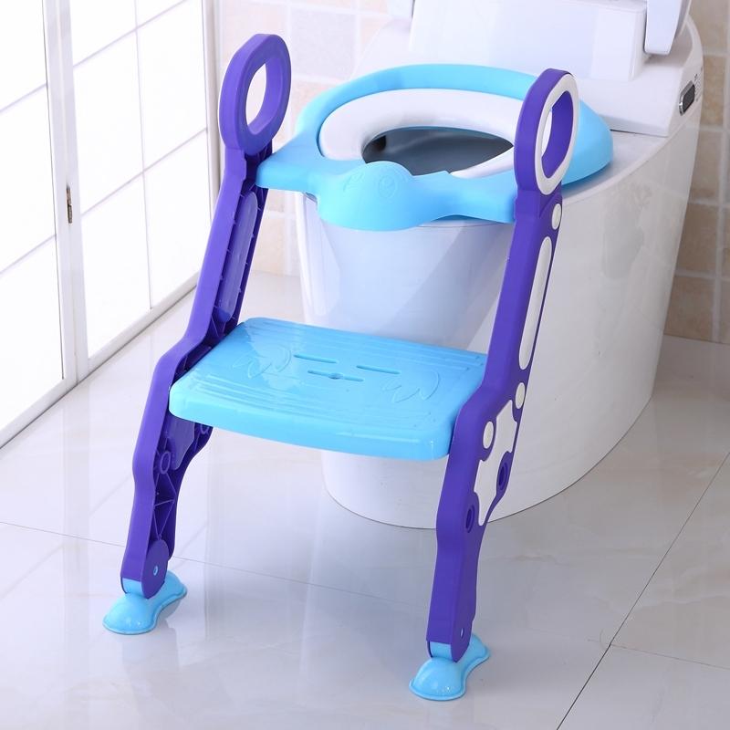 Купить PITUSO Сиденье для унитаза с лесенкой и ручками Голубой BLUE [16018B], Горшки и детские сиденья на унитаз