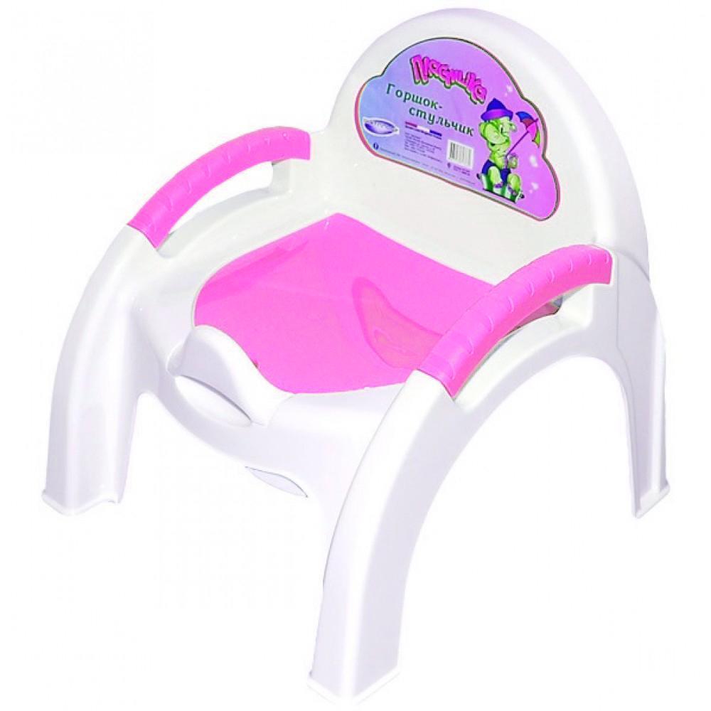Купить УТ000001650, БЫТПЛАСТ Горшок-стульчик Пластишка, [4313267], Горшки и детские сиденья на унитаз