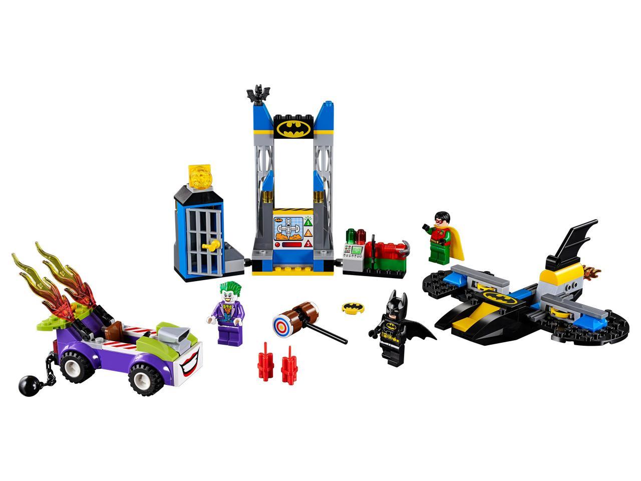 Купить Конструктор LEGO 10753 Juniors Нападение Джокера на Бэтпещеру, пластик, Для мальчиков и девочек, Венгрия, Конструкторы