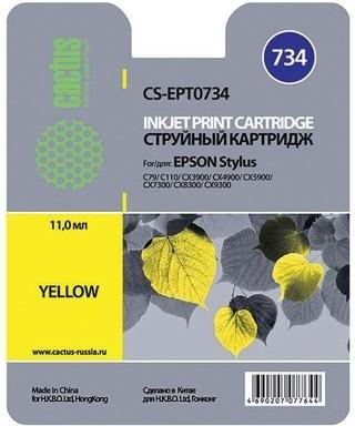 Купить Струйный картридж Cactus CS-EPT0734 (Yellow), CS-EPT0734 Yellow, Yellow (Желтый), Китай
