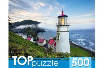 Купить РЫЖИЙ КОТ Пазлы Toppuzzle. Маяк у моря , 500 элементов [ГИТП500-4209 ]