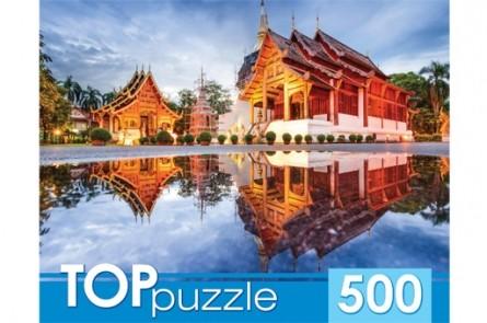 Купить РЫЖИЙ КОТ Пазлы Toppuzzle. Пагоды на воде , 500 элементов [ГИТП500-4208 ]