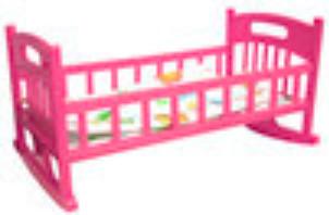 Купить МУСИ-ПУСИ Кроватка для кукол с постелью Муси-Пуси , розовая [IT104888], Муси-пуси, розовый, пластик, Мебель для кукол