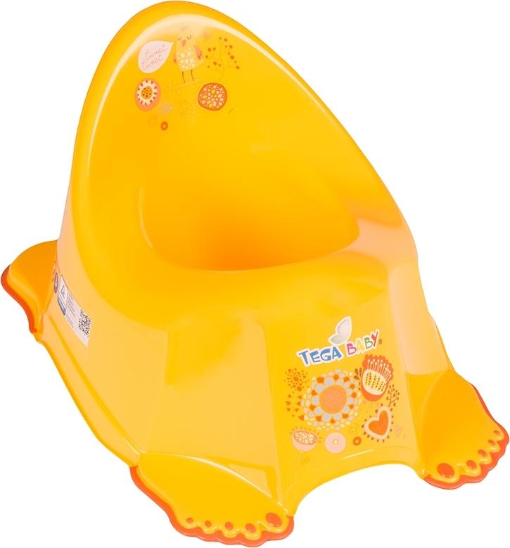 Купить ТЕГА Детский горшок антискользящий FOLK (ФОЛЬКЛОР) желтый [FL-001-113], Tega baby, Горшки и детские сиденья на унитаз