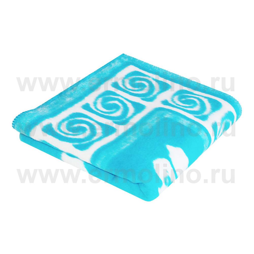 Купить ЕРМОЛИНО Одеяло детское байковое х/б 118x100 Голубой [57-6ЕТ Ж], Россия, Покрывала, подушки, одеяла для малышей