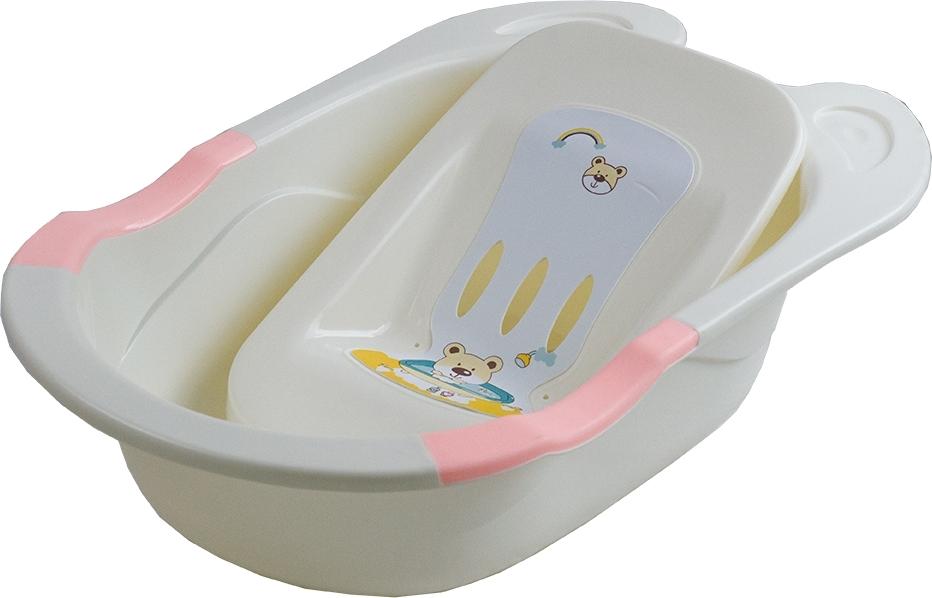 Купить PITUSO Детская ванна с горкой для купания 85 см Розовая PINK 85x50x23, 5 см 10 шт./кор. [8837], Ванночки для малышей