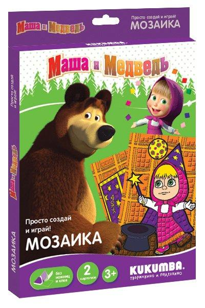 Купить Мозаика KUKUMBA 0062013 Маша и медведь 5, Вспененный этиленвинилацетат (ЭВА) на клеевой основе, картонные основы, Для мальчиков и девочек, Россия, Бисер и бисероплетение