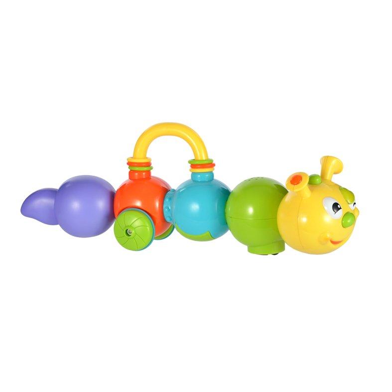 Купить ЖИРАФИКИ Развивающая игрушка Говорящая гусеница , говорит, объезжает препятствия [939498], пластик, Детские музыкальные инструменты